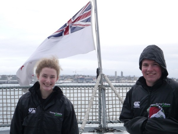 Hawkes Bay student Rose Mickleson wrote the first blog from aboard the ship and revealed 'man overboard drills' were part of day one at sea