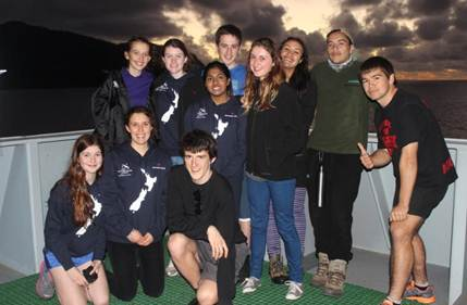 HMNZS Canterbury is taking a crew of 55 - including 30 students - to the Kermadec Islands