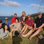 The whale trail team on Raoul Island.