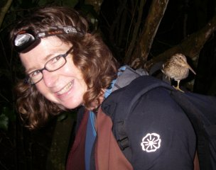 alison-ballance_and-chatham-snipe-on-rangatira-island-chathams